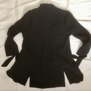 LC Lauren Conrad Jackets & Coats - Lauren Conrad 3/4 tie sleeve black jacket size S.